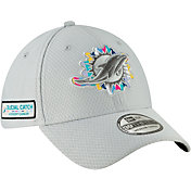 New Era Men's Crucial Catch Miami Dolphins Sideline 39Thirty White Stretch Fit Hat