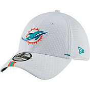 New Era Men's Miami Dolphins Sideline Training Camp 39Thirty Stretch Fit White Hat