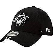New Era Men's Miami Dolphins Sideline Training Camp 39Thirty Stretch Fit Black Hat