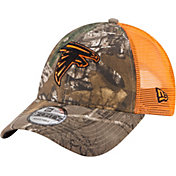 New Era Men's Atlanta Falcons Real Tree 9Forty Orange Camo Adjustable Trucker Hat