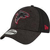 New Era Men's Atlanta Falcons Shadow Front 9Forty Black Adjustable Hat