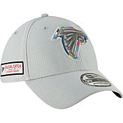 New Era Men's Crucial Catch Atlanta Falcons Sideline 39Thirty White Stretch Fit Hat