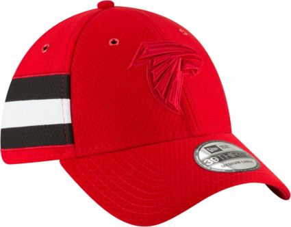 New Era Men s Atlanta Falcons Sideline Color Rush 39Thirty Red Stretch Fit  Hat 5b284e0699c