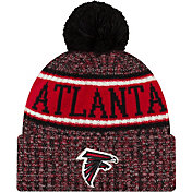 New Era Men's Atlanta Falcons Sideline Cold Weather Reverse Sport Black Knit
