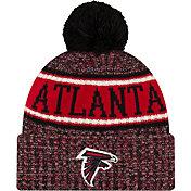 New Era Men's Atlanta Falcons Sideline Cold Weather Reverse Sport Black Knit