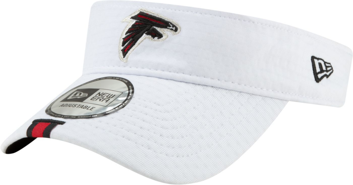 New Era Men's Atlanta Falcons Sideline Training Camp Adjustable White Visor
