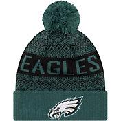 New Era Men's Philadelphia Eagles Wintry Green Pom Knit