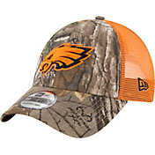 New Era Men's Philadelphia Eagles Real Tree 9Forty Orange Camo Adjustable Trucker Hat