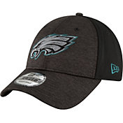 New Era Men's Philadelphia Eagles Shaded Front 9Forty Black Adjustable Hat