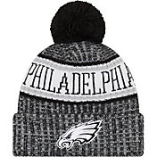 New Era Men's Philadelphia Eagles Sideline Cold Weather Reverse Black Sport Knit