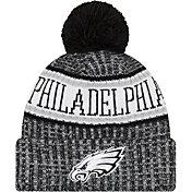 New Era Men's Philadelphia Eagles Sideline Cold Weather Reverse Black Sport Knit