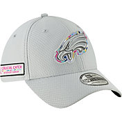 New Era Men's Crucial Catch Philadelphia Eagles Sideline 39Thirty White Stretch Fit Hat