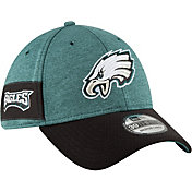 New Era Men's Philadelphia Eagles Sideline Home 39Thirty Green Stretch Fit Hat
