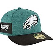 New Era Men's Philadelphia Eagles Sideline Home 59Fifty Green Fitted Hat