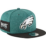 New Era Men's Philadelphia Eagles Sideline Home 9Fifty Green Adjustable Hat