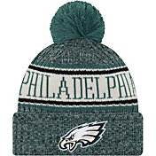 New Era Men's Philadelphia Eagles Sideline Cold Weather Green Sport Knit