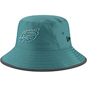 New Era Men's Philadelphia Eagles Sideline Training Camp Green Bucket Hat