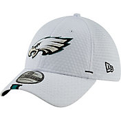 New Era Men's Philadelphia Eagles Sideline Training Camp 39Thirty Stretch Fit White Hat