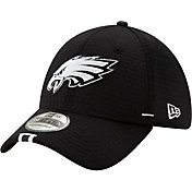 New Era Men's Philadelphia Eagles Sideline Training Camp 39Thirty Stretch Fit Black Hat