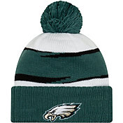 New Era Men's Philadelphia Eagles Thanksgiving Green Pom Knit
