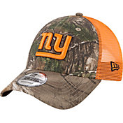 New Era Men's New York Giants Real Tree 9Forty Orange Camo Adjustable Trucker Hat