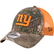 67b7af30ce926 New Era Men s New York Giants Real Tree 9Forty Orange Camo Adjustable  Trucker Hat