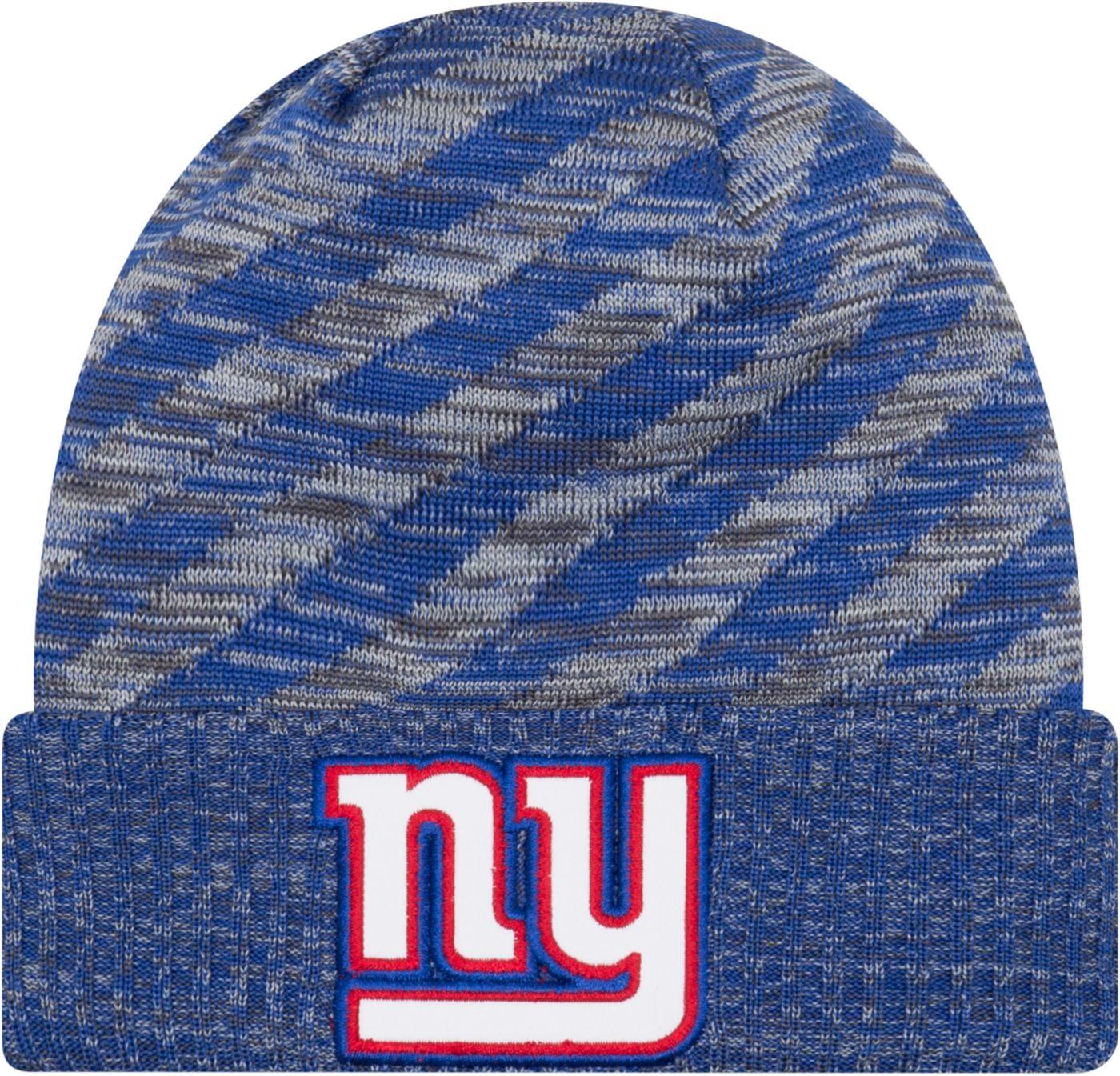 New Era Men's New York Giants Sideline Cold Weather TD Blue Knit