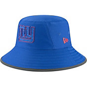 New Era Men's New York Giants Sideline Training Camp Blue Bucket Hat