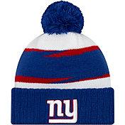 New Era Men's New York Giants Thanksgiving Blue Pom Knit
