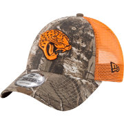 New Era Men's Jacksonville Jaguars Real Tree 9Forty Orange Camo Adjustable Trucker Hat
