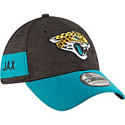 New Era Men's Jacksonville Jaguars Sideline Home 39Thirty Black Stretch Fit Hat