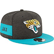 New Era Men's Jacksonville Jaguars Sideline Home 9Fifty Black Adjustable Hat