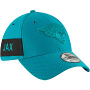 New Era Men's Jacksonville Jaguars Sideline Color Rush 39Thirty Teal Stretch Fit Hat