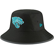 New Era Men's Jacksonville Jaguars Sideline Training Camp Black Bucket Hat