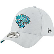 New Era Men's Jacksonville Jaguars Sideline Training Camp 39Thirty Grey Stretch Fit Hat