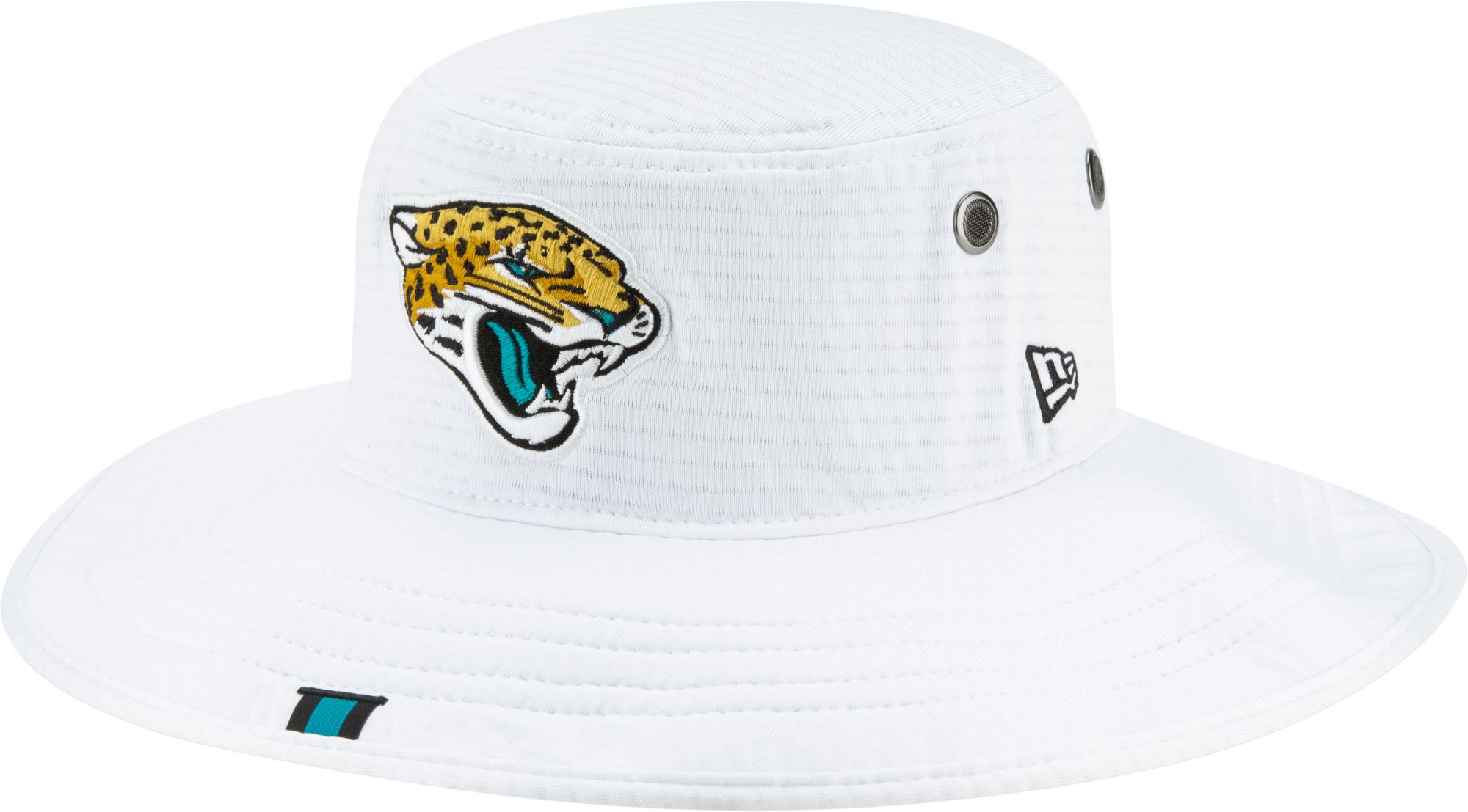 ca36e560 New Era Men's Jacksonville Jaguars Sideline Training Camp Panama White  Bucket Hat