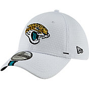 New Era Men's Jacksonville Jaguars Sideline Training Camp 39Thirty Stretch Fit White Hat