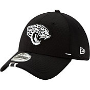 New Era Men's Jacksonville Jaguars Sideline Training Camp 39Thirty Stretch Fit Black Hat