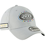New Era Men's Crucial Catch New York Jets Sideline 39Thirty White Stretch Fit Hat