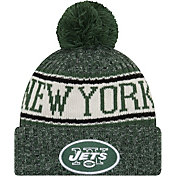 New Era Men's New York Jets Sideline Cold Weather Green Sport Knit
