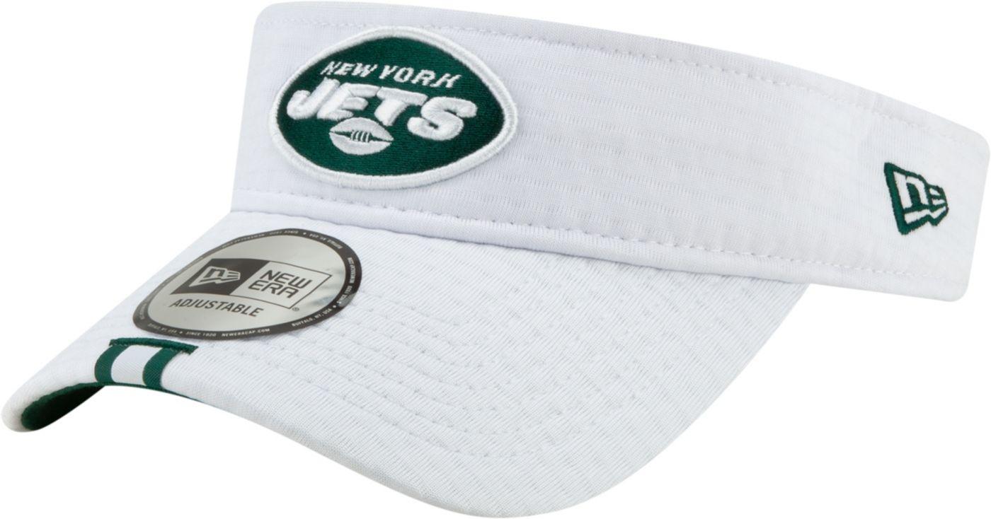 New Era Men's New York Jets Sideline Training Camp Adjustable White Visor