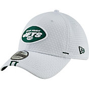 New Era Men's New York Jets Sideline Training Camp 39Thirty Stretch Fit White Hat