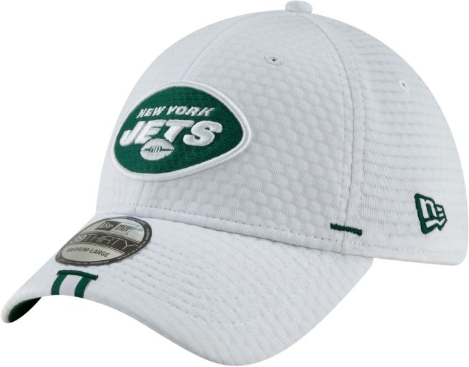 5f697ae8a New Era Men's New York Jets Sideline Training Camp 39Thirty Stretch Fit  White Hat 1