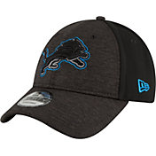 New Era Men's Detroit Lions Shadow Front 9Forty Black Adjustable Hat