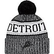 New Era Men's Detroit Lions Sideline Cold Weather Reverse Black Sport Knit