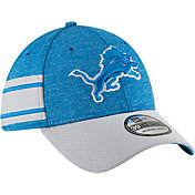 New Era Men's Detroit Lions Sideline Home 39Thirty Blue Stretch Fit Hat