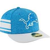 New Era Men's Detroit Lions Sideline Home 59Fifty Blue Fitted Hat
