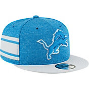 New Era Men's Detroit Lions Sideline Home 9Fifty Blue Adjustable Hat