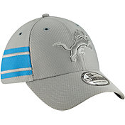 New Era Men's Detroit Lions Sideline Color Rush 39Thirty Grey Stretch Fit Hat