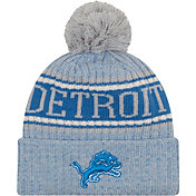 New Era Men's Detroit Lions Sideline Cold Weather Reverse White Sport Knit